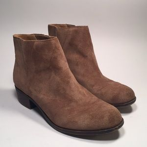 Lucky Brand Suede Ankle Boots in Camel Sz 8